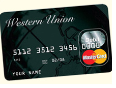 Western Union prepaid credit card