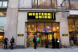 Western Union storefront.