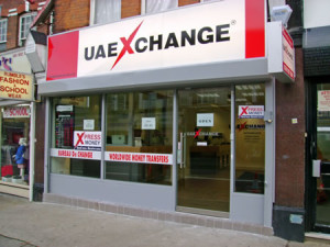 A UAEXCHANGE branch in the UK